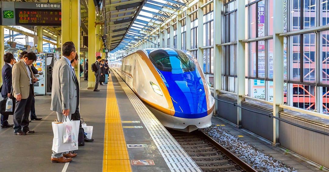 Shinkansen Bullet Train at Tokyo Station bound for Kyoto