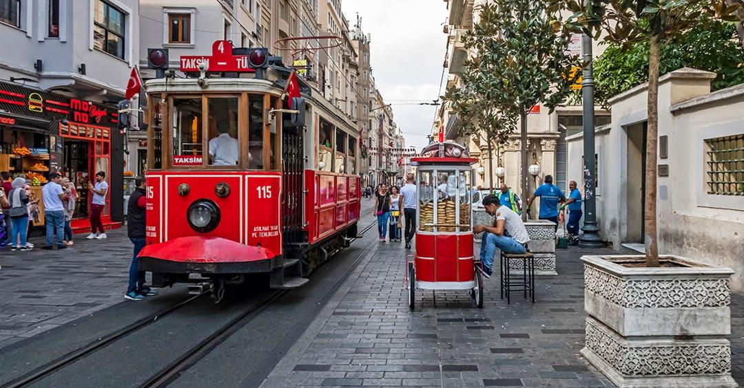 Istiklal Street near Taksim Square