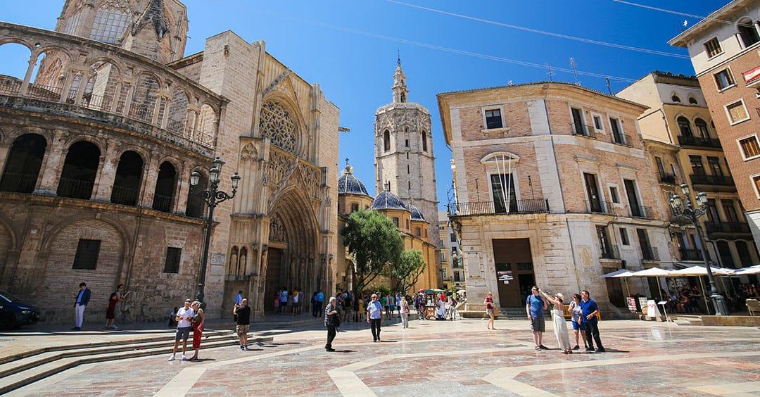 Plaza de la Almoina in Valencia's Old Town